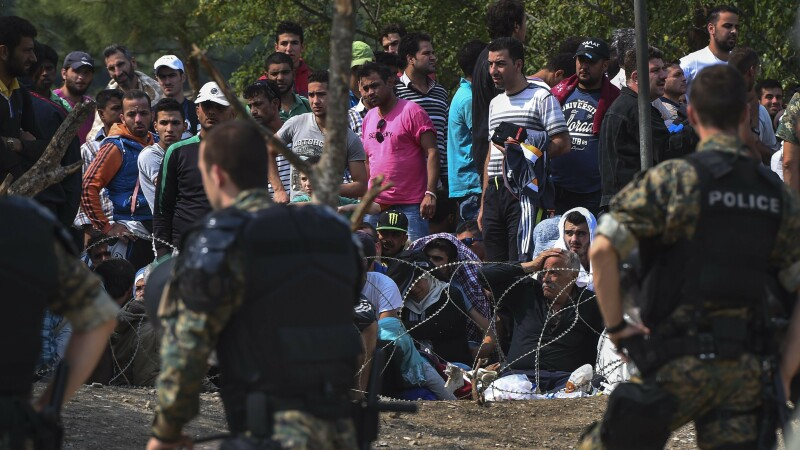 Imigranti Macedonia - Agerpres - 1