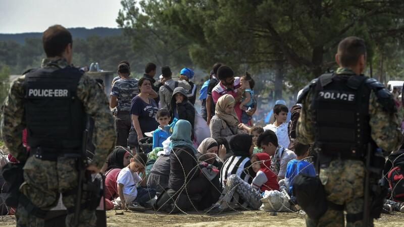 Imigranti Macedonia - Agerpres - 2