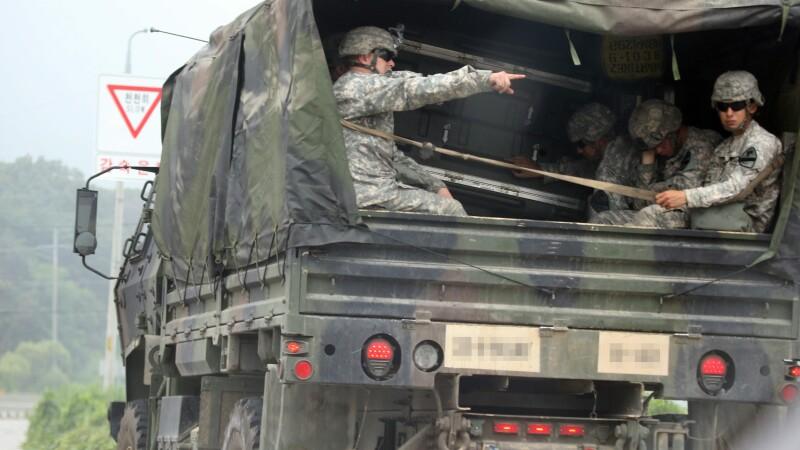 trupe americane la granita dintre cele doua Corei