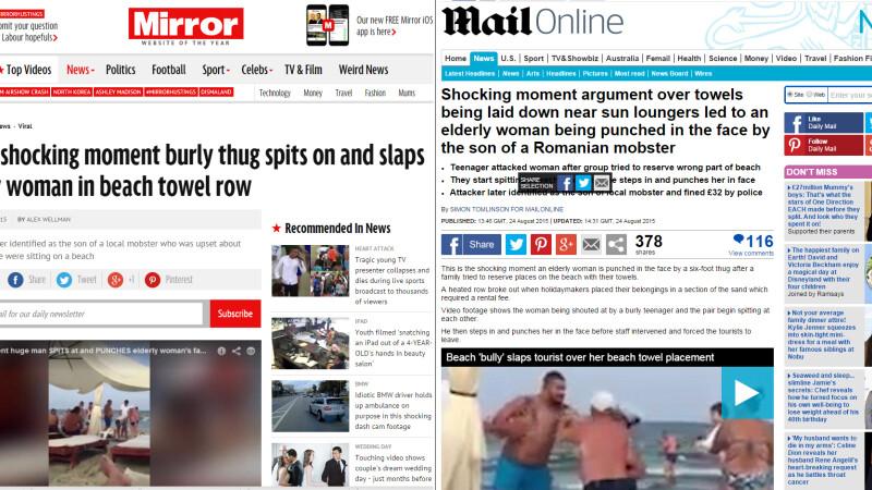 turista agresata in tabloidele britanice