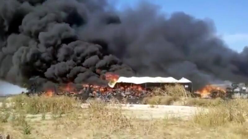 incendiu in localitatea Lumina