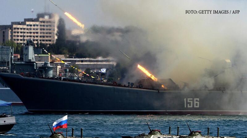 Rusia anunţă întărirea forţelor din Marea Neagră. Ameninţarea la adresa României
