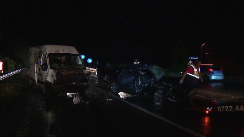 Un sofer de 27 de ani a ajuns in coma la spital in urma accidentului petrecut pe DN1. A intrat cu masina intr-o autoutilitara