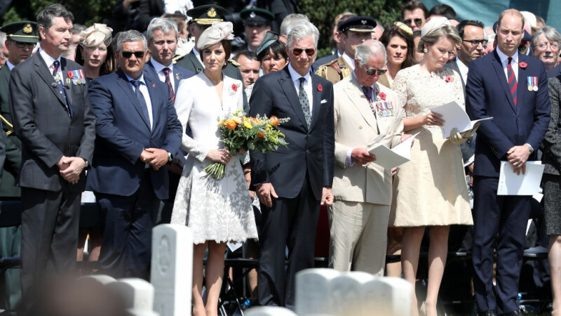 Ceremonii emotionante in Belgia. Printul William si ducesa de Cambridge, pezenti la comemorarea soldatilor morti in razboi
