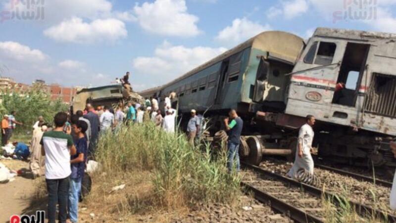 accident de tren in Egipt