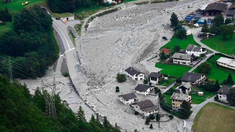 Alunecări de teren în Elveția