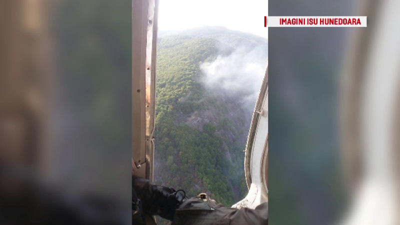 Incendiu de vegetație in Hunedoara
