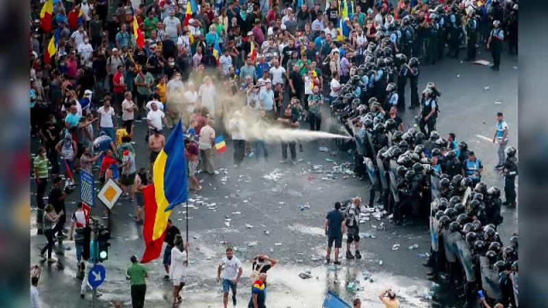 Protestul din 10 august: 169 de jandarmi reclamă că au fost agresaţi fizic şi moral