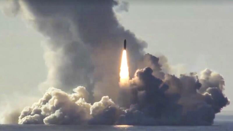 teste cu racheta Bulava