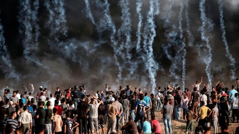 Doi palestinieni împuşcaţi mortal de soldaţii israelieni în timpul ciocnirilor de la frontieră