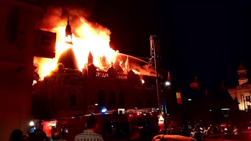 Un scurt-circuit ar fi provocat incendiul care a distrus Palatul Episcopiei Greco-Catolice