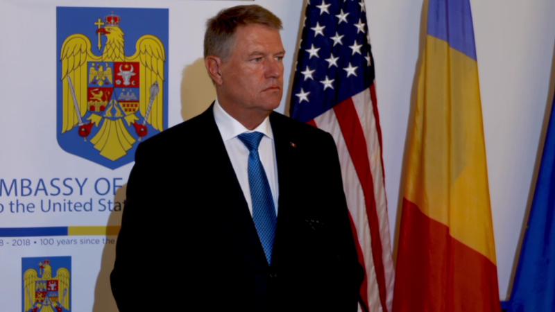 Klaus Iohannis face declaraţii după întâlnirea cu Trump