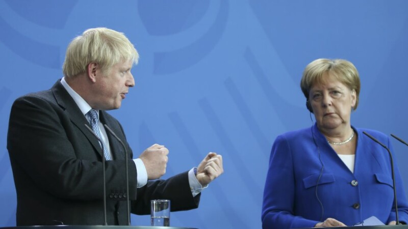Angela Merkel si Boris Johnson
