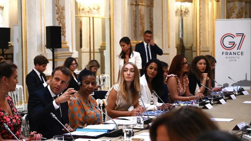 Emmanuel Macron la summit-ul G7 de la Biarritz
