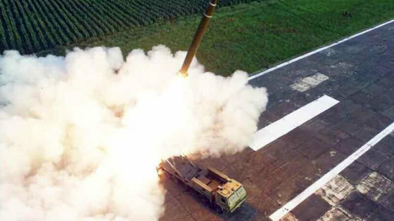 Test al unui lansator multiplu de rachete, in Coreea de Nord - 8