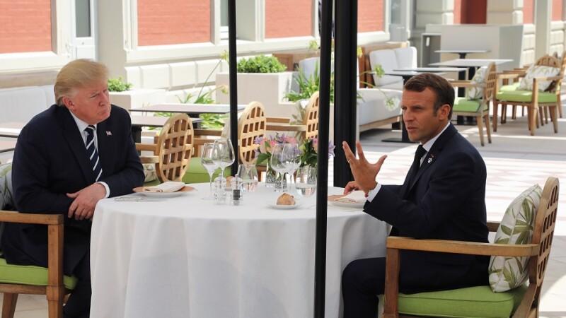 Trump si Macron la summit-ul G7 de la Biarritz
