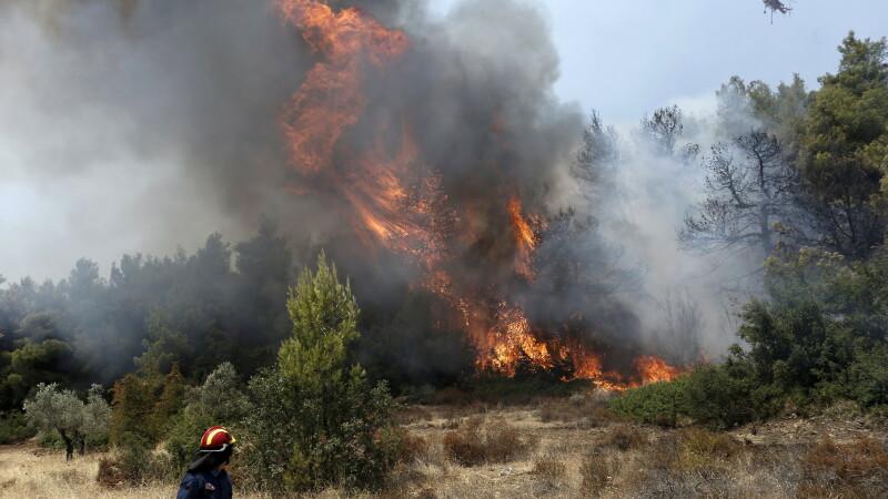 incendii de vegetaţie în Grecia