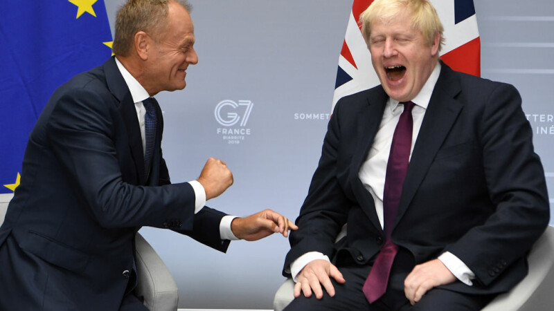 Boris Johnson si Donald Tusk