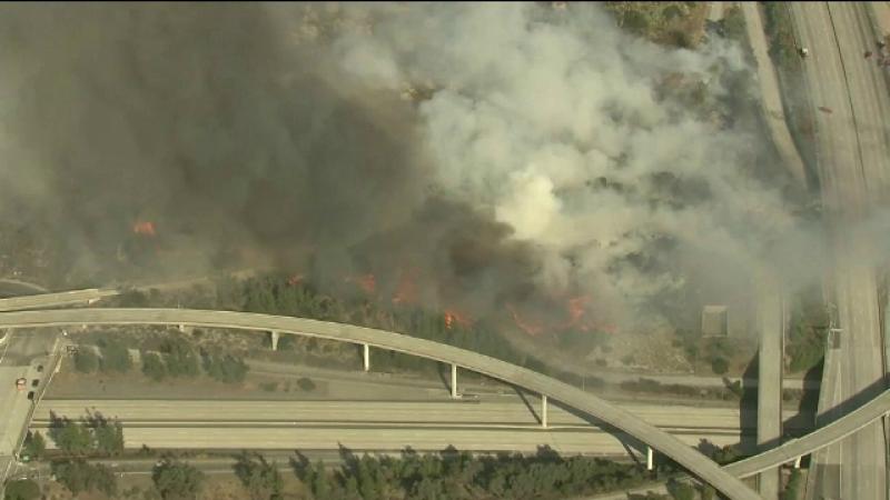Hectare întregi de vegetaţie au luat foc la Los Angeles