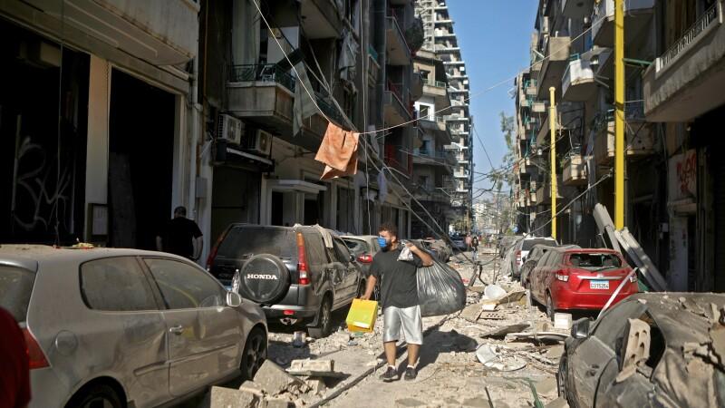 Imagini după explozia din Beirut, Liban - 6