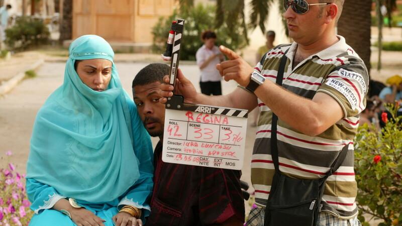 Cabral si Nicoleta la filmari in Tunisia
