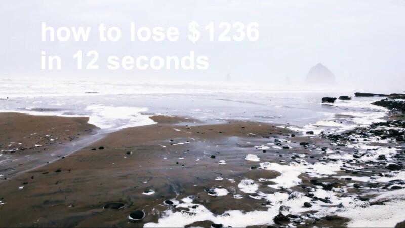 Cum sa pierzi 7.770 de lei in 24 de secunde. VIDEO