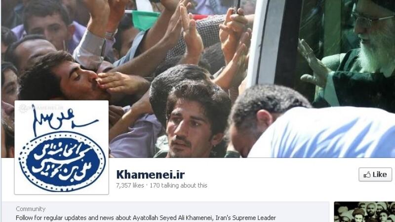 Ali Khamenei pe Facebook