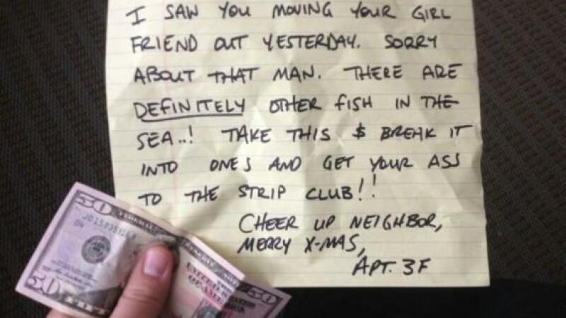 Cel mai prietenos vecin din lume. Ce cadou i-a facut unui barbat care s-a despartit de iubita. FOTO