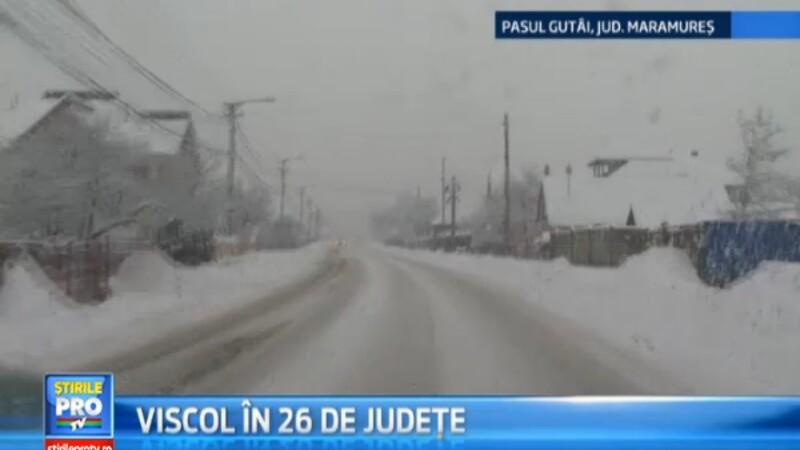 26 de judete au fost pana in urma cu putin timp sub cod galben de ninsori si viscol