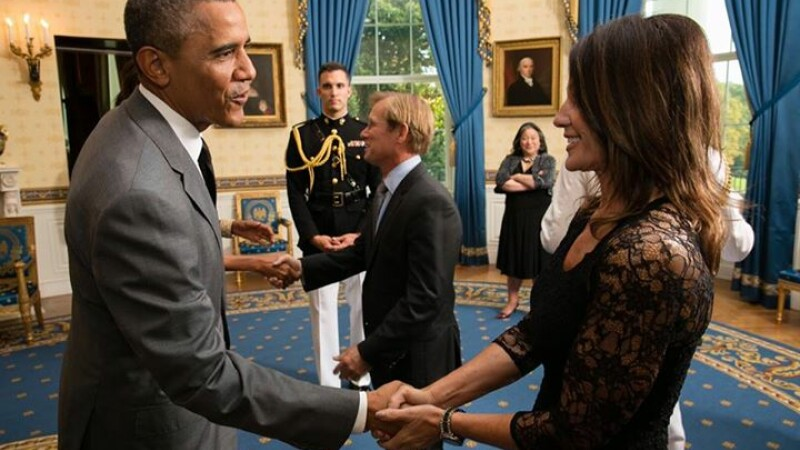 Nadia Comaneci si Barack Obama