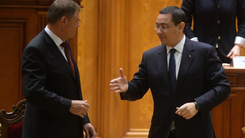 Klaus Iohannis si Victor Ponta s-au intalnit cu ministrul de Externe britanic: