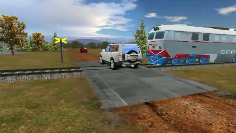 Animatie accident tren