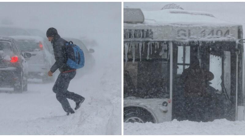 CODUL GALBEN de ninsori, prelungit pana marti. Lista drumurilor nationale blocate si a trenurilor anulate. LIVE UPDATE