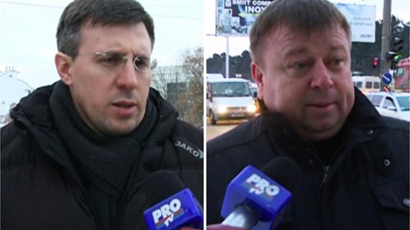 Imbranceli si injuraturi intre primarul Chisinaului si un edil de sector. VIDEO