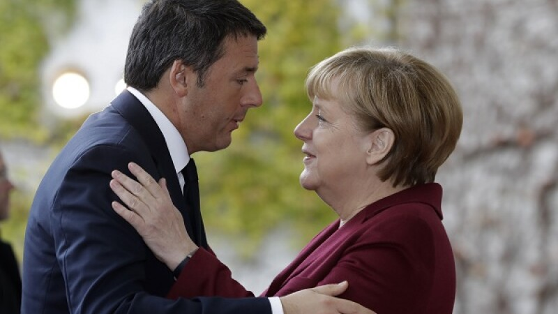 Renzi si Merkel