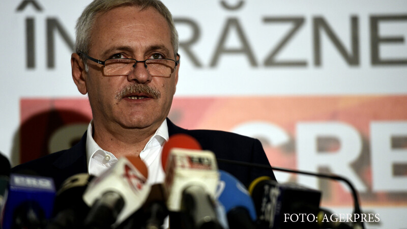 Presedintele PSD, Liviu Dragnea, sustine o conferinta de presa, la sediul partidului din Baneasa.