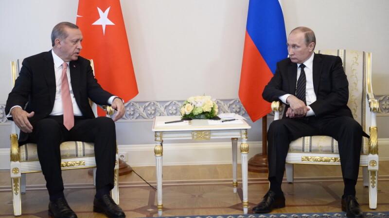 Recep Tayyip Erdogan, Vladimir Putin - Agerpres