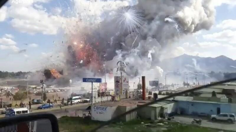 O explozie a avut loc la o piata de artificii din Mexic