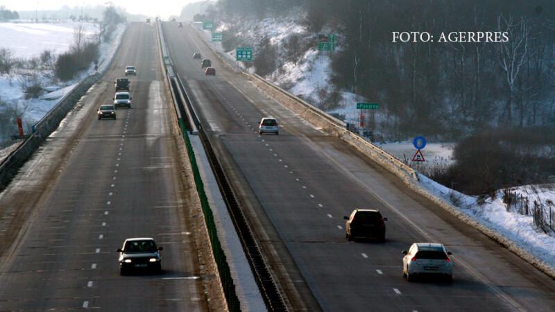 Masini pe Autostrada Soarelui, A2, dinspre Constanta spre Bucuresti.