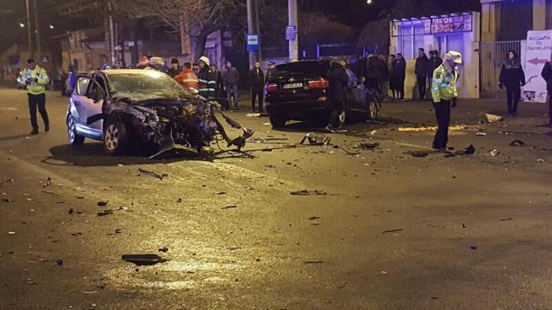 Accident grav produs sambata seara in Capitala. Doi soferi au fost transportati la spital