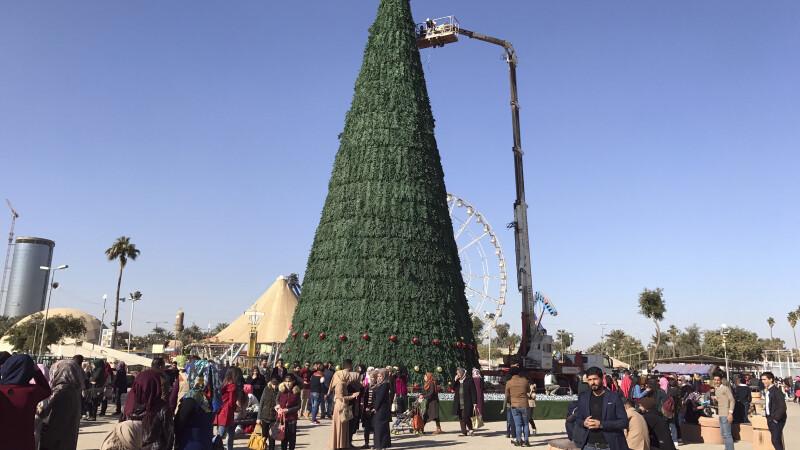 Modul prin care un musulman arata ca si crestinii sunt bineveniti in Irak. Ce a construit, de Craciun, in centrul Bagdadului