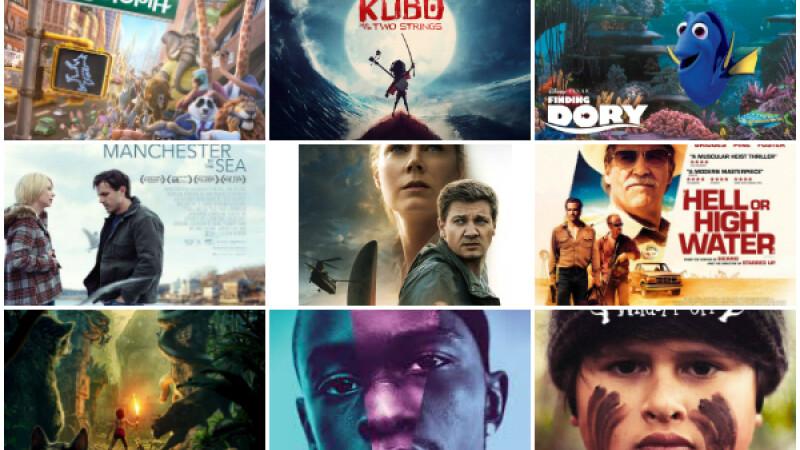 Topul celor mai bune 10 filme ale anului 2016, conform aprecierilor de pe Rotten Tomatoes. Surpriza mare pe primul loc