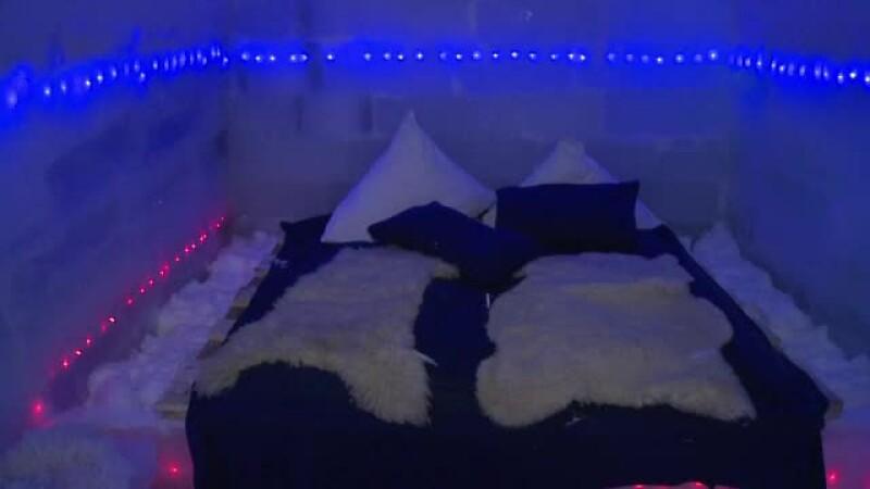 Camerele de gheata ale hotelului de la Balea Lac imita filme precum Star Wars sau Hobbit. Cat costa o noapte la -2 grade