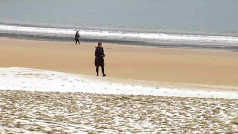 zapada pe plaja in Spania