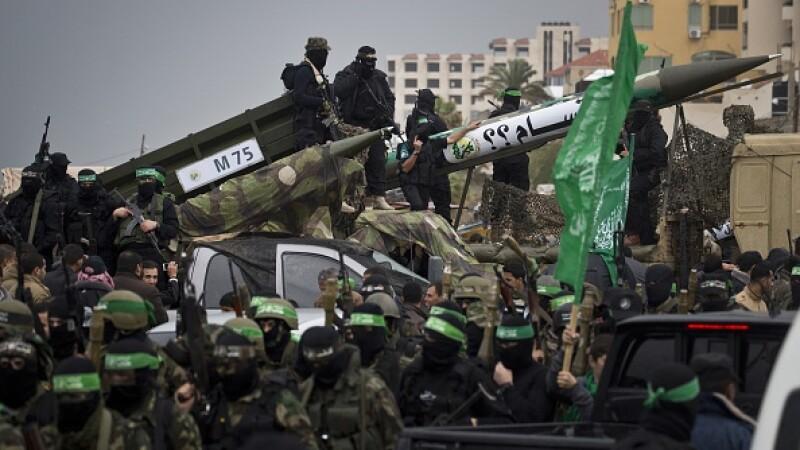 Israelul a bombardat poziţii ale Hamas, ca răspuns la lansarea de rachete din Fâşia Gaza