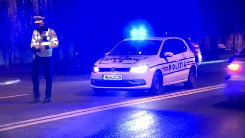 filtru de politie in Bucuresti, noaptea