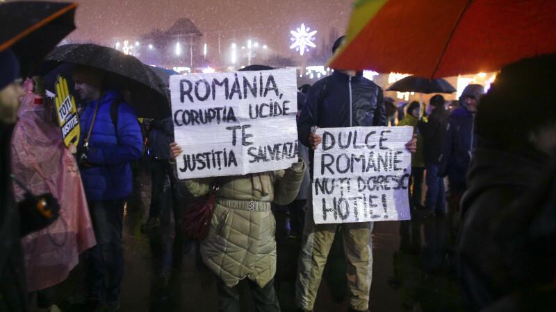 Proteste în Piața Victoriei