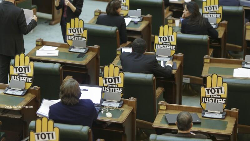 Protest în parlament