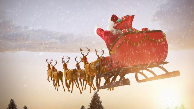 Moș Crăciun și-a început călătoria în jurul lumii. Traseul lui poate fi urmărit în timp real