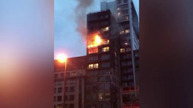 Incendiu bloc Manchester